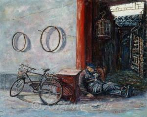 Old Man and His Bicycle