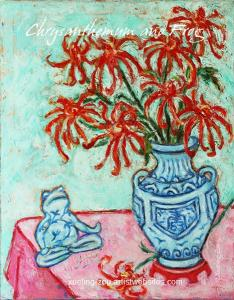 Paintings With Auspicious Symbols II - Chrysanthemum And Frog